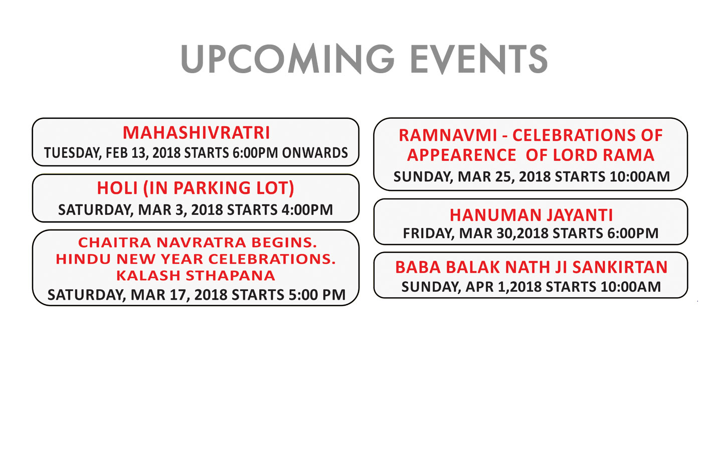 upcoming_events Edmonton Mandir
